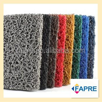 Green Solid Plastic Cushion Coil Pvc Flooring Mats Spaghetti Mat ...