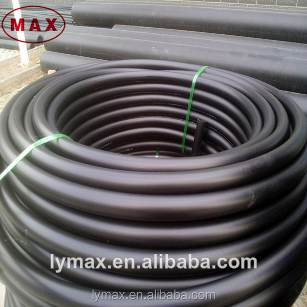 black 15 inch poly pipe for irrigation