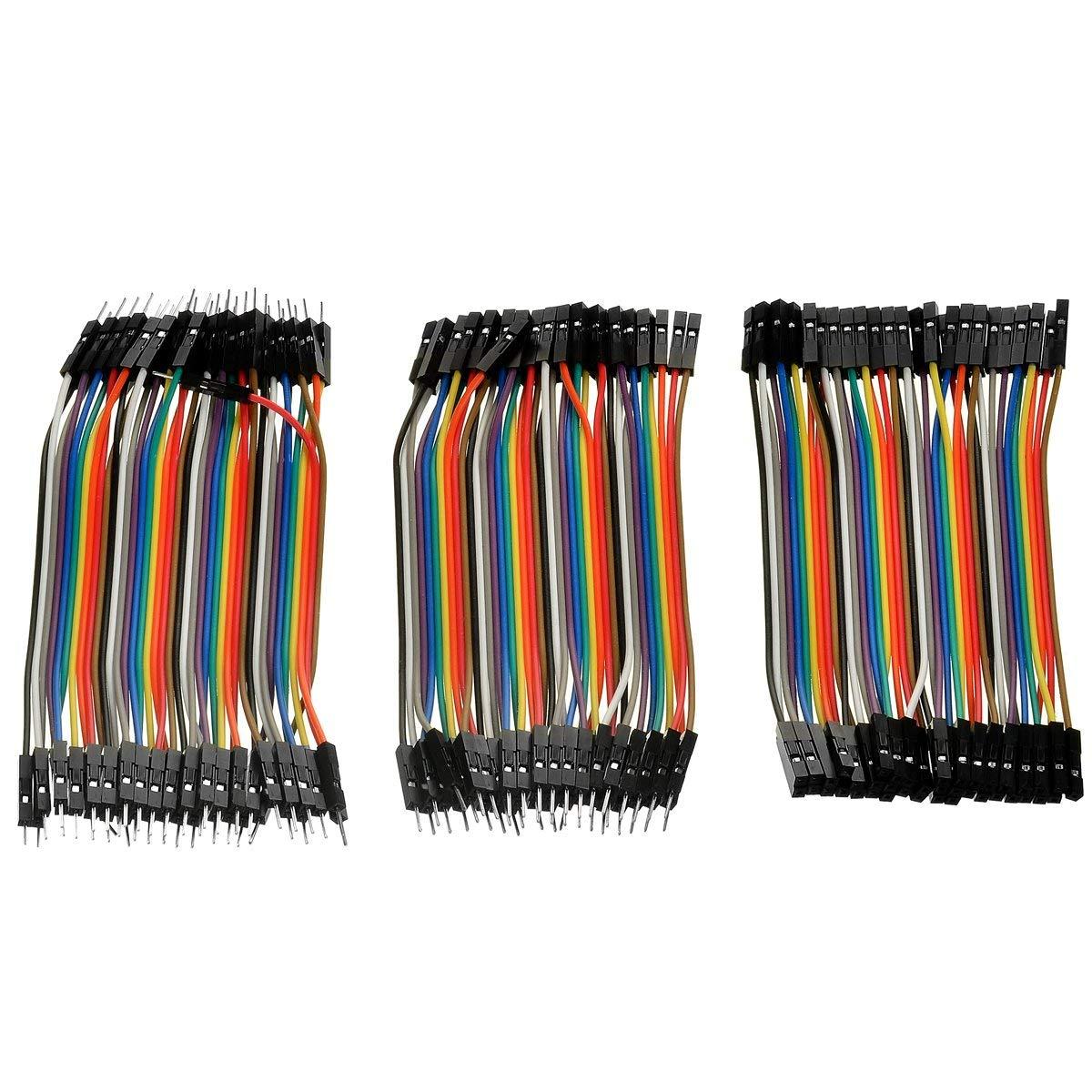 40Pin Female to Female/Female to Male/Male to Male Jumper Dupont Wire Ribbon Set (11��2cm)