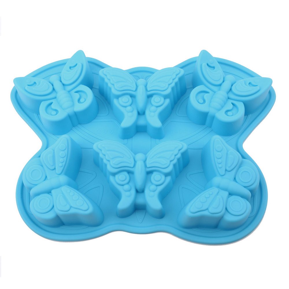 6 Butterfly Silicone Cake Baking Mold Cake Pan Muffin Cups Handmade Soap Moulds Biscuit Chocolate Ice Cube Tray DIY Mold