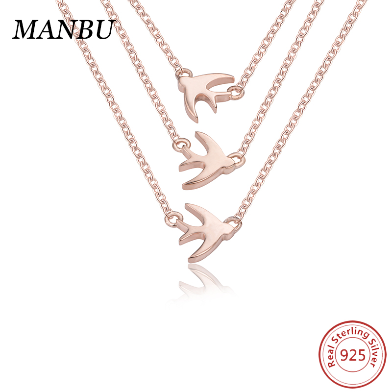 925 sterling silver animal pendant rose gold bridal jewelry <strong>set</strong> JN7669-P