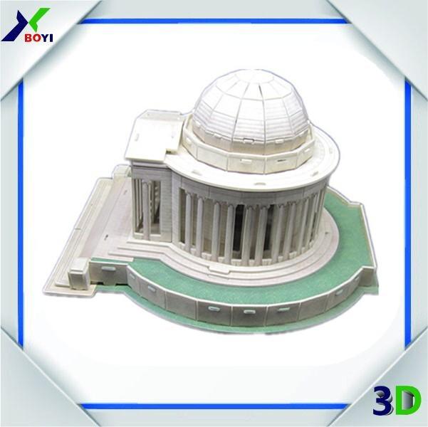 World Architecture 3d Puzzle Famous Building Model/3d Eps Paper ...