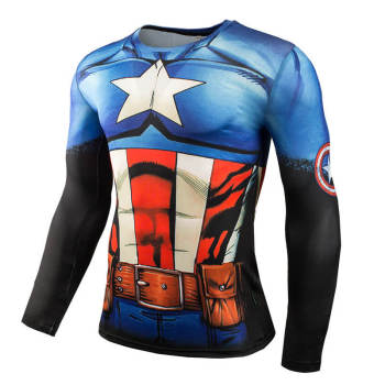 Marvel Comics Avengers Spiderman Black Panther 3D Long Sleeve T Shirt Men Fitness Clothing Captain America Compression Shirt