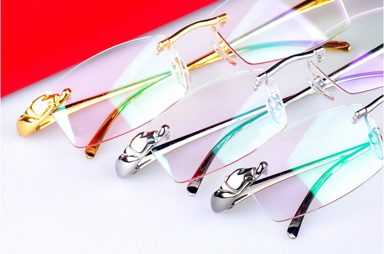454a07214efb Leopard Brand Eyewear Optical Frame Pure Titanium Spectacles Frame Rimless  Prescription Eyeglasses Frame 8200875 oculos de · Cartier cheap designer  glasses
