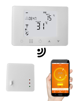 HY09RF  Wireless smart room thermostat for water heating system