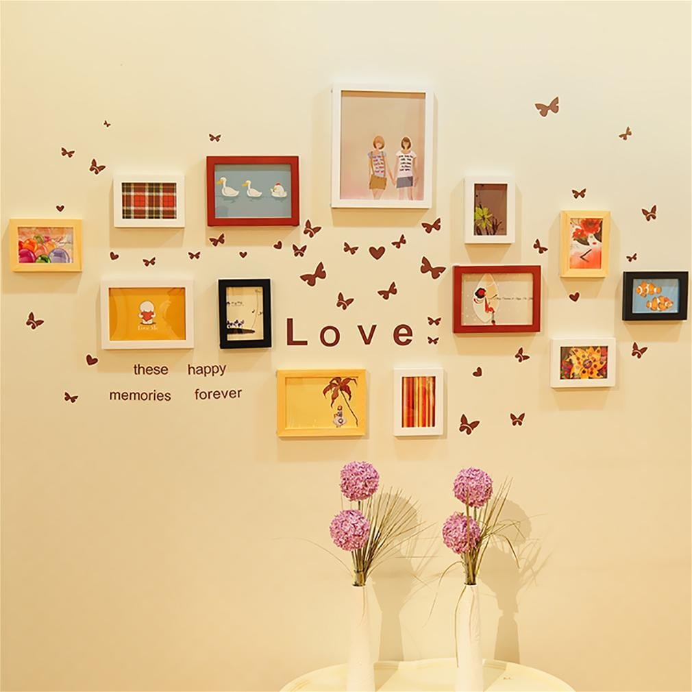 WillST Multi Picture Photo Frames Home Wall Decoration Wooden Frame Set Of 13pcs Picture