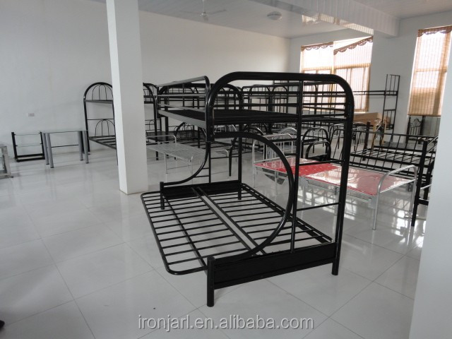 Ironjarl C type metal folding sofa bunk bed metal bunk bed with sofa