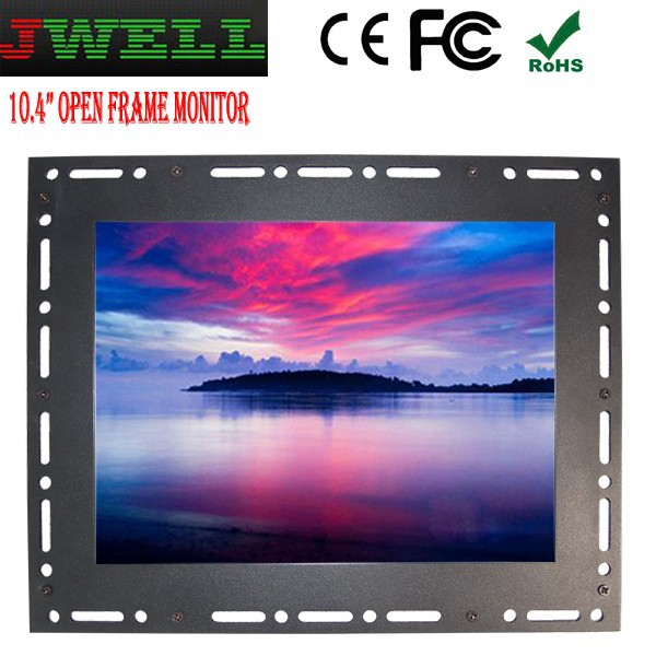 10.4 inch 4:3 ratio hd panel monitor with AV,VGA for pc,game,pos system,menu,kiosk