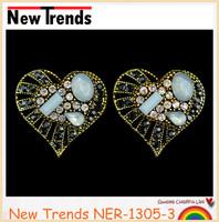 Light blue resin diamond body jewelry piercing women earring