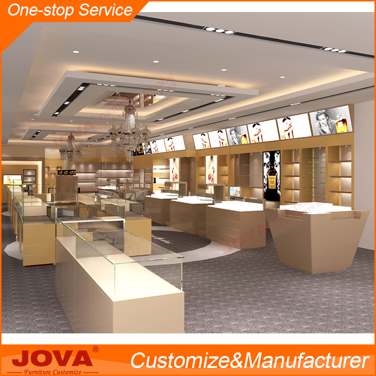 Custom Made Elegant Jewellery Shop Furniture Counter Design For Impressive Jewelry Store Interior Design Plans