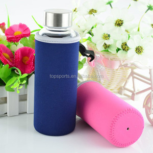 Wholesale cheap blank or custom printing neoprene fabric hot water bottle holder