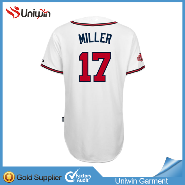 cheap #17 Miller #5 freeman 100% polyester Murpphy #3 baseball jersey