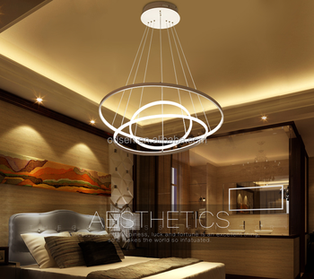 high quality large round shade lamp diy hanging lights pendant ring chandelier - Diy Hanging Lamp