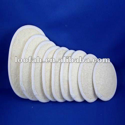 Disposable loofah/loofa/luffa bath pad for hotel