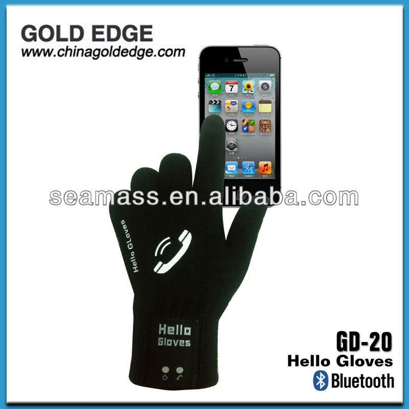 Touch sreen winter gloves ,Newest bluetooth hello glove for smart phone