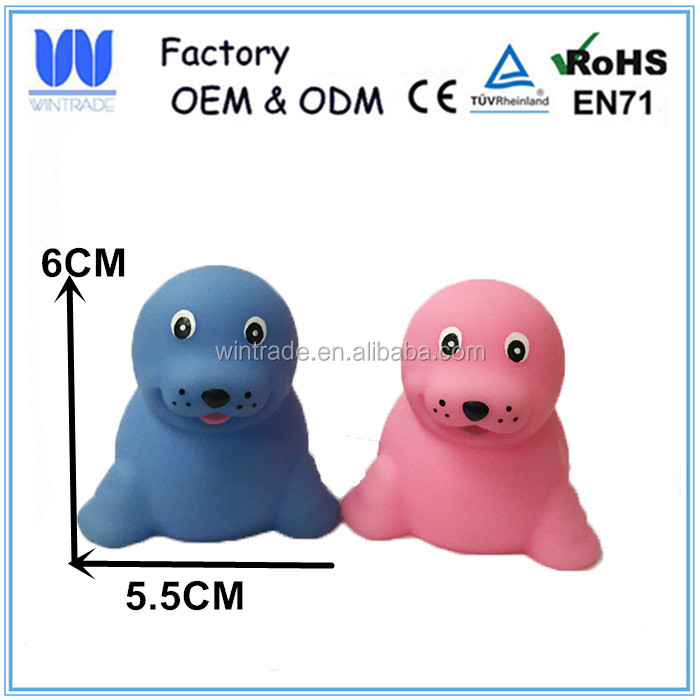 Bath toy type vinyl material eco-friendly soft rubber aninal toys for kids