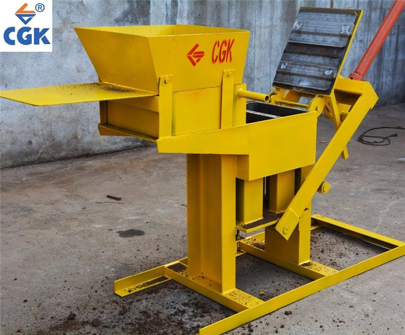 CGK manual ecologic interlock concrete block molds small industries brick machine 2-40 Price in Africa