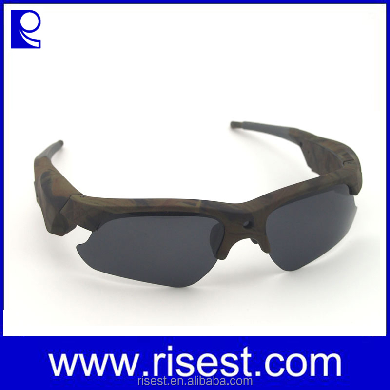Camo Color HD 1080P Sunglasses Eye Glasses Video Camera Cam , Hunting Sunglasses Camera