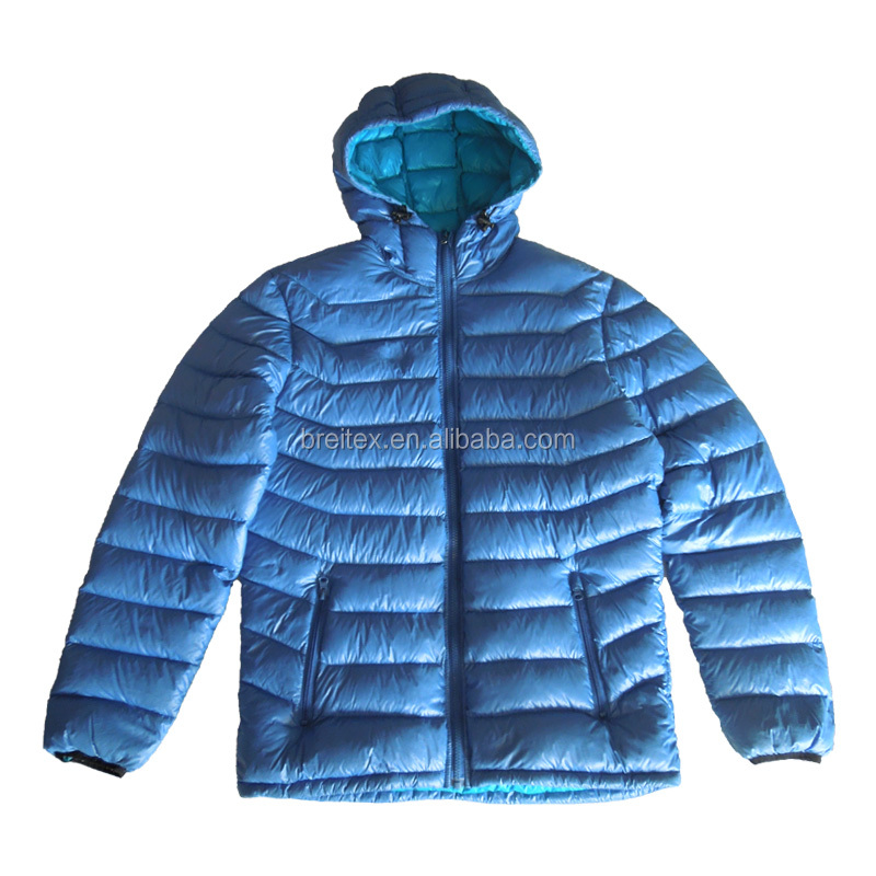 OEM customized fashion nylon 90% down 10% feather duck down padded jacket