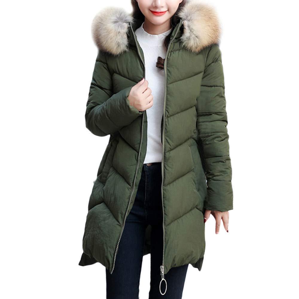 Coats For Women, Clearance!! Farjing Winter Sale Women Warm Faux Fur Coat Hooded Thick Warm Slim Long Jacket Overcoat