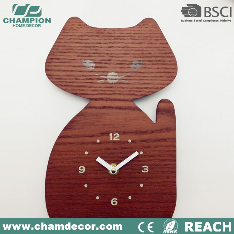 Wooden Fancy Animal Shape Series Wall Clock,Quart School Wall ...