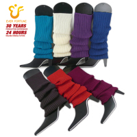 Factory Price Fashion New Womens Over Knee High Colorful Knitted Wool Leg Warmers Wholesale