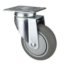 "5"" Polyurethane Wheel Plate Caster for Commercial Kitchen Equipment"