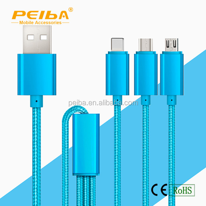 1.2M Length Nylon V8 Micro USB Charging Cable for All Smartphones etc