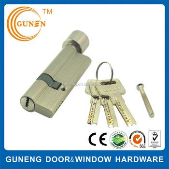 One Side Knob One Side Key Lock Cylinder, Guard Security Door Cylinder Push  Barrel Lock