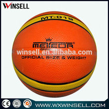 Latest popular heavy duty rubber basketball