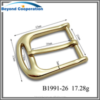 Pure gold plated women buckle in 26mm width good polished low price