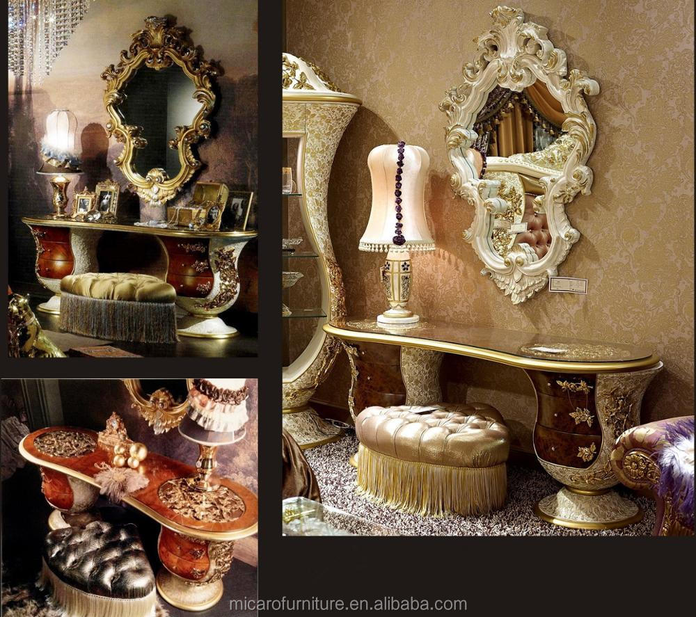Latest Italian Royal Baroque Style Classic Luxury Wood Carving Bedroom Furniture  Designs