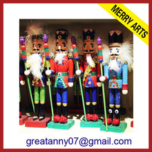 popular sale wholesale handicraft 18 inch wooden toy nutcracker dolls sale