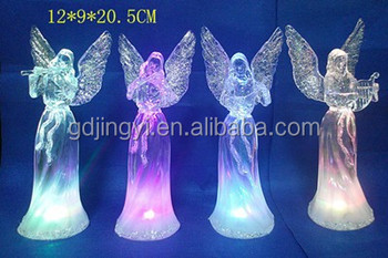 led plastic acrylic new christmas angel figurines statue for sale