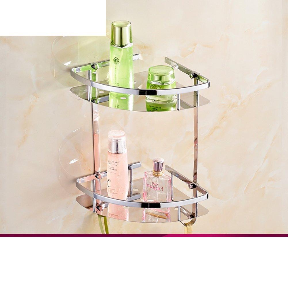 Sanitary stainless steel triangular basket/Bathroom racks/Bathroom storage baskets/ double corner rack/Toilet Tripod-A