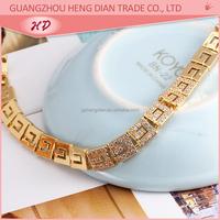 Most popular fashion jewelry set bracelet 18K gold plated brass jewelry make zircon bracelet for girl