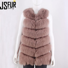 2019 fashion sleeveless winter women fur vest lady classic real fox fur vest