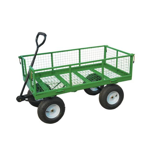 Heavy Duty Metal Gardening Trolley With Four Wheel,mesh Cart