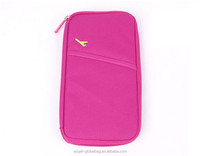 Factory direct supply wholesale 600D polyester passport holder travel documents wallet