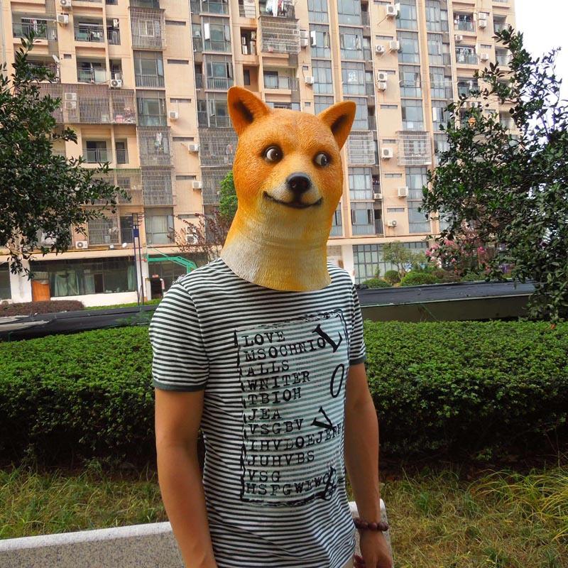 0e6aff39769 Animal Dog Masks Novelty Latex Halloween Cosplay Party Doggy Head Mask -  Buy Animal Dog Masks,Halloween Cosplay Masks,Doggy Head Mask Product on ...