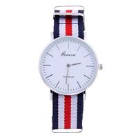 4509 Women Luxury Brand Geneva Ladies Wristwatch Gifts Girl Nylon Strap Dress Quartz Simple Dial design your own wrist watch