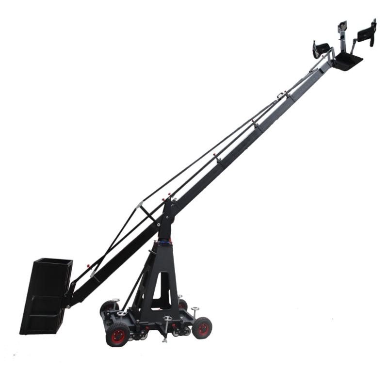 Two seats manned elevating camera crane jib