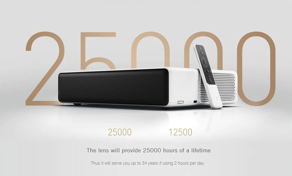 International Version Xiaomi Laser Projector 150 Inch EU Full HD 4k MI Laser Projector 150 Inch