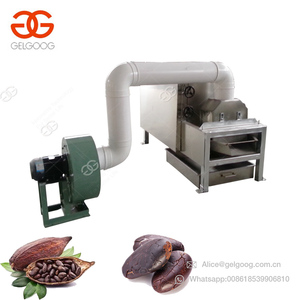 Commerical Cacao Bean Roasting Processing Machinery Winnowing Peeler Winnower Roasted Cocoa Bean Peeling Machine