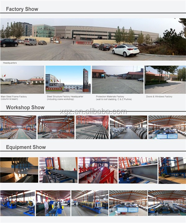 steel construction ISO & CE certificated metal frame steel structure plant/ warehouse/workshop
