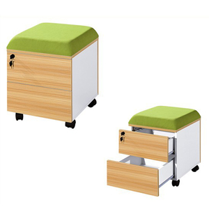 CF 3 drawers mobile office pedestal/cabinet furniture lockable/MFC Materials with cushion