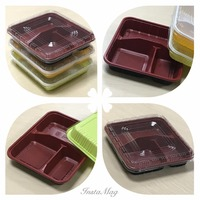 tupperware plastic lunch box plastic vacuum food containerfood storage container with lid SGS/FDA Approval