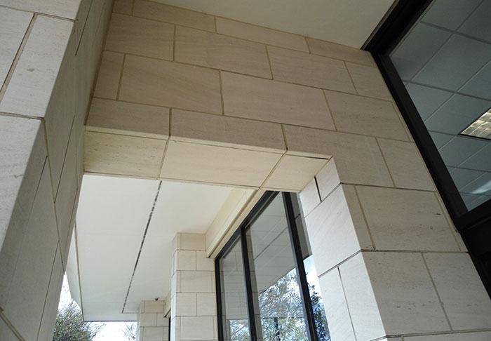 Muro esterno di piastrelle di pietra portogallo crema limestones