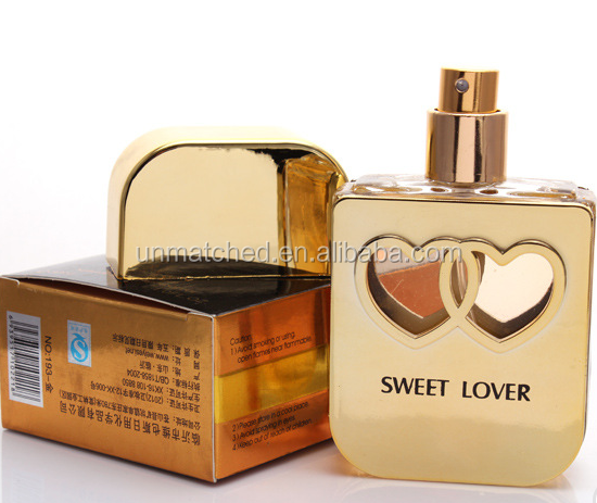 sex perfume Hot sale sweet lover couple perfume with special bottle design,three colors for choice