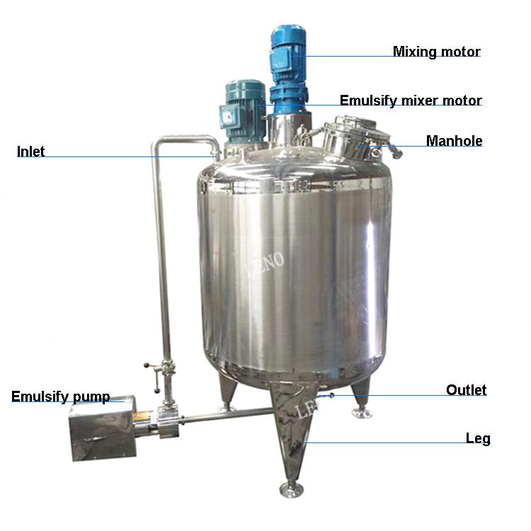 Preço de fábrica jam xarope de molho três camadas de suco industrial mixer